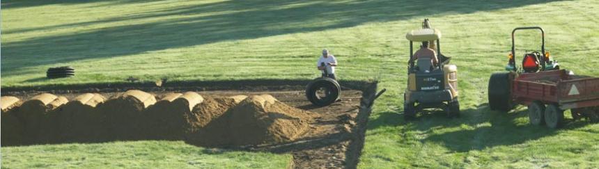 Baseball in-field mix installation