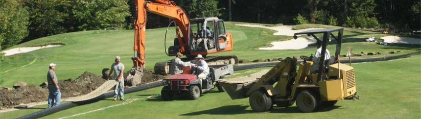 Sugarloaf Golf Club irrigation mainline installation