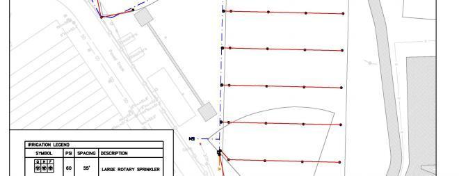 Athletic field irrigation design
