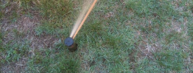 Poor sprinkler water quality